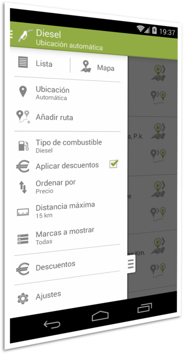 Screenshot 3 of the Gasoline and Diesel Spain app